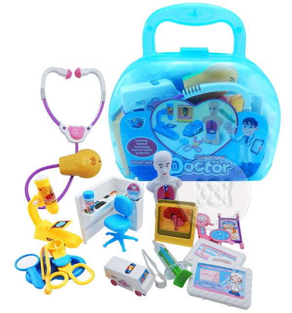 ชุดคุณหมอกล่องหิ้ว คละสี Medical Play Set Doctor No.CB006164