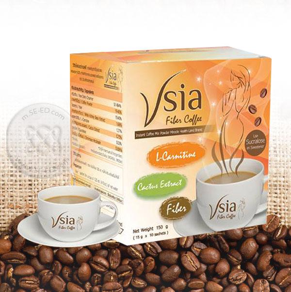 กาแฟ Vsia Fiber Coffee สูตรลดน้ำหนัก (10 ซอง x 15 กรัม)